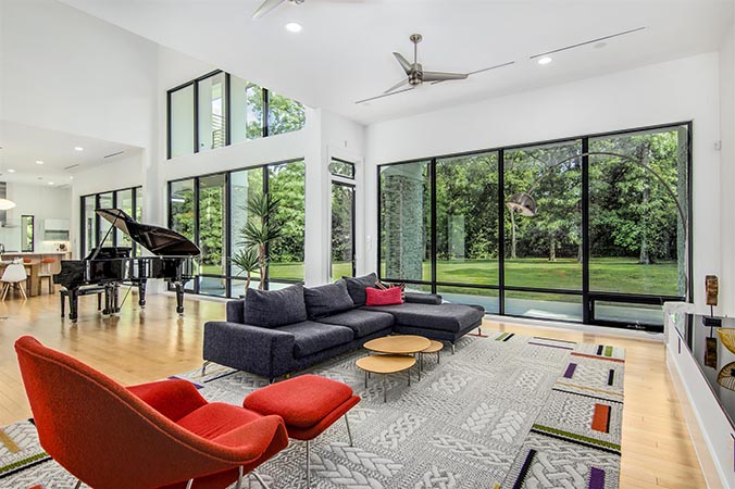 Fantastic quality Atlanta, GA real estate photo with see-through windows, using flash photography.